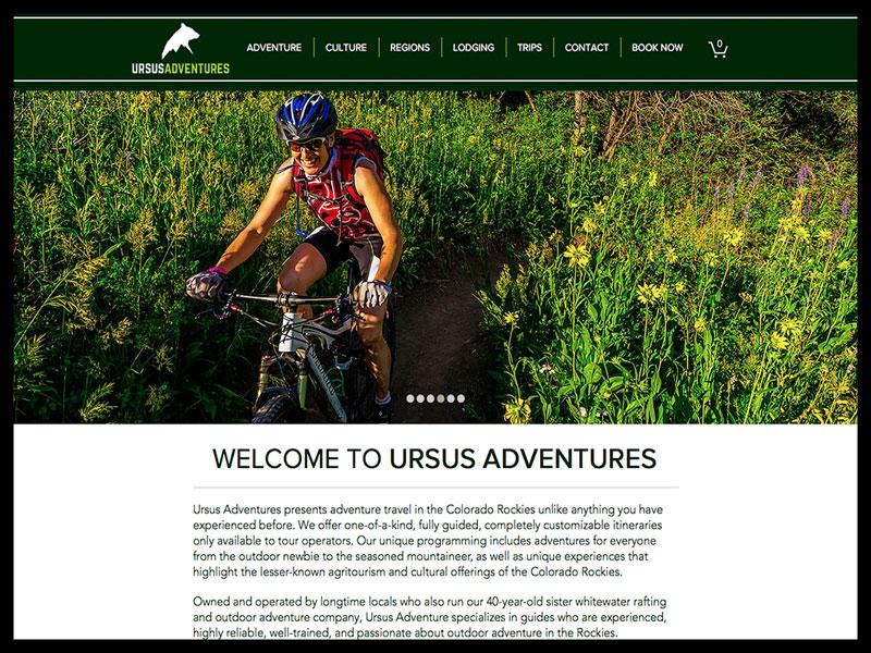 Crux media website design client - Ursus Adventures