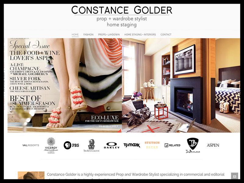 Crux media website design client - Constance Golder