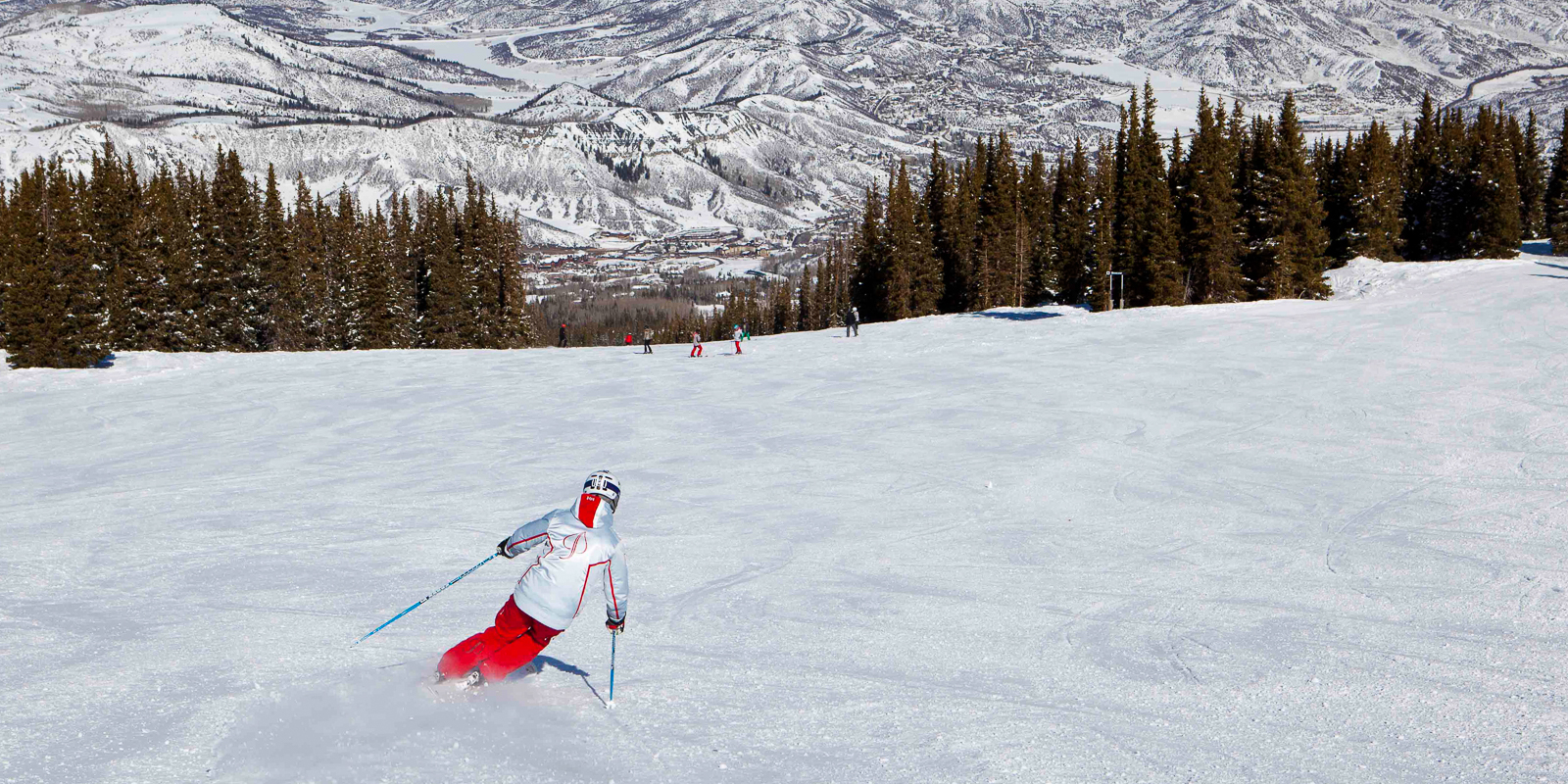 Snowmass Mountain ski run, Aspen.