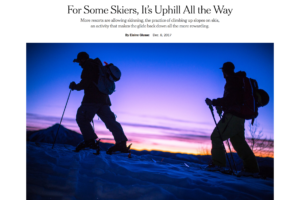 For Some Skiers, It's Uphill All the Way – New York Times