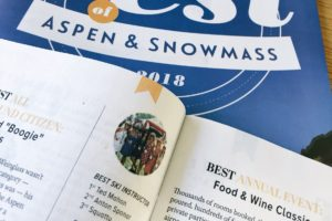 Best Ski Instructor – 2018 Aspen Times Best of Aspen Snowmass