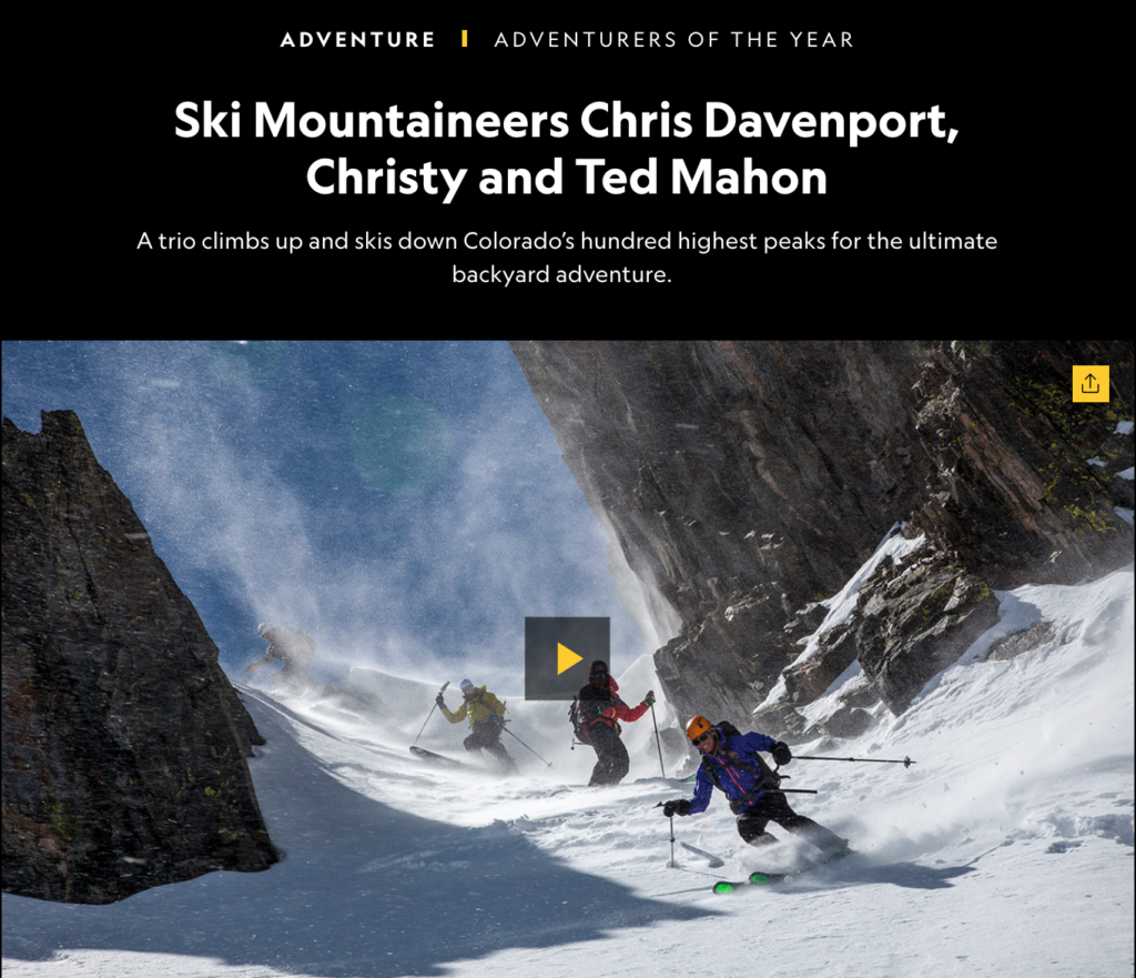 National Geographic Adventurers of the Year for ski mountaineering